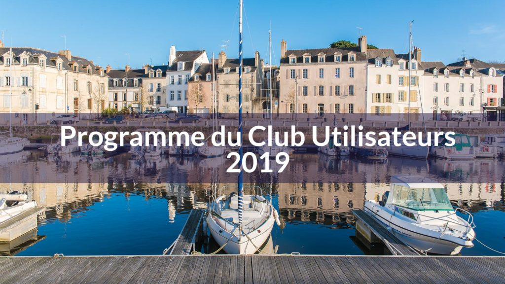 Programme Club Utilisateurs MGDIS 2019