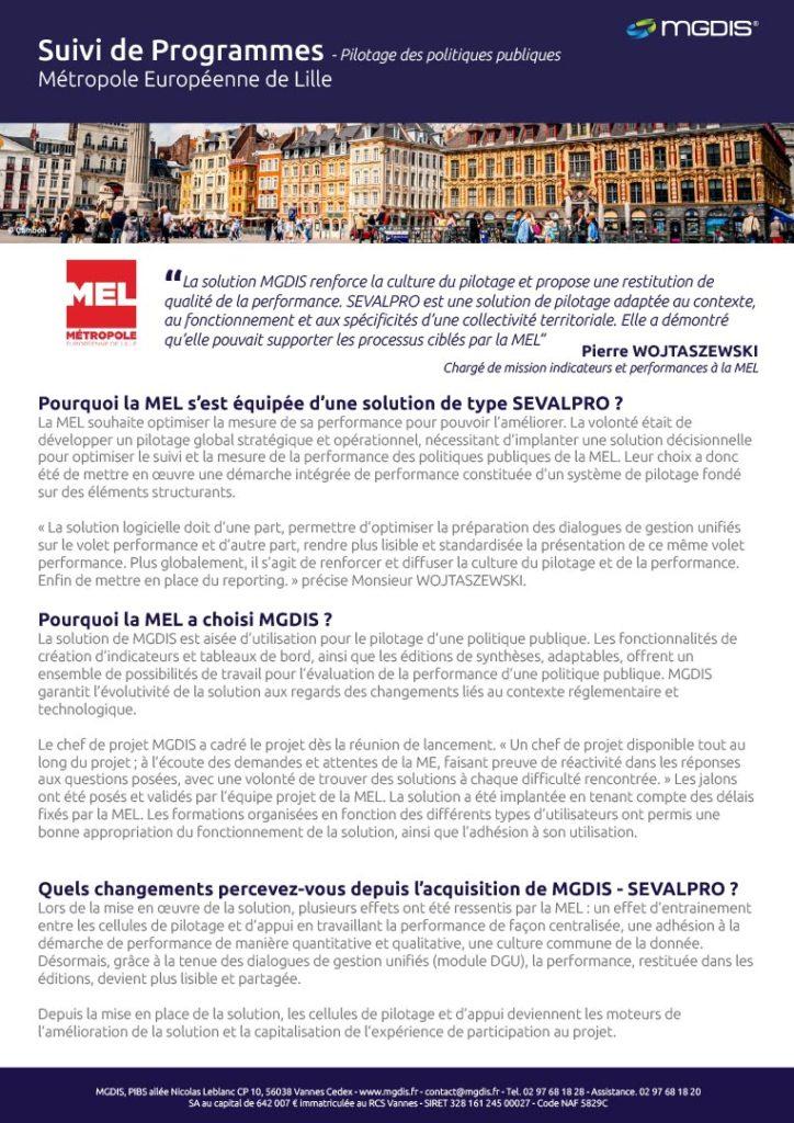 MEL - Metropole de Lille portail des aides MGDIS