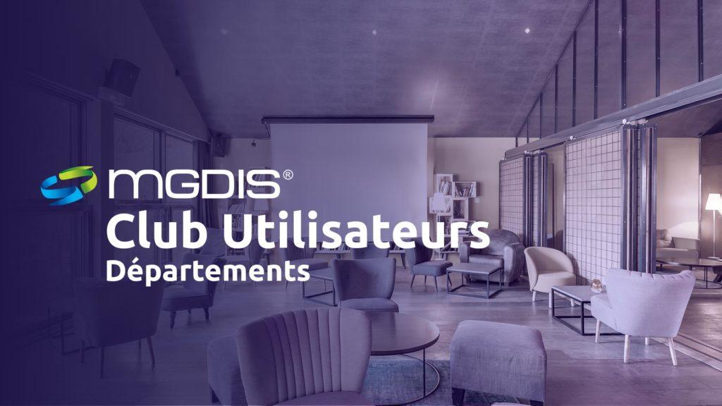 Club Utilisateurs Départements MGDIS 2020