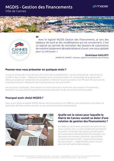 Ville de Cannes retour d'expérience Gestion des financements