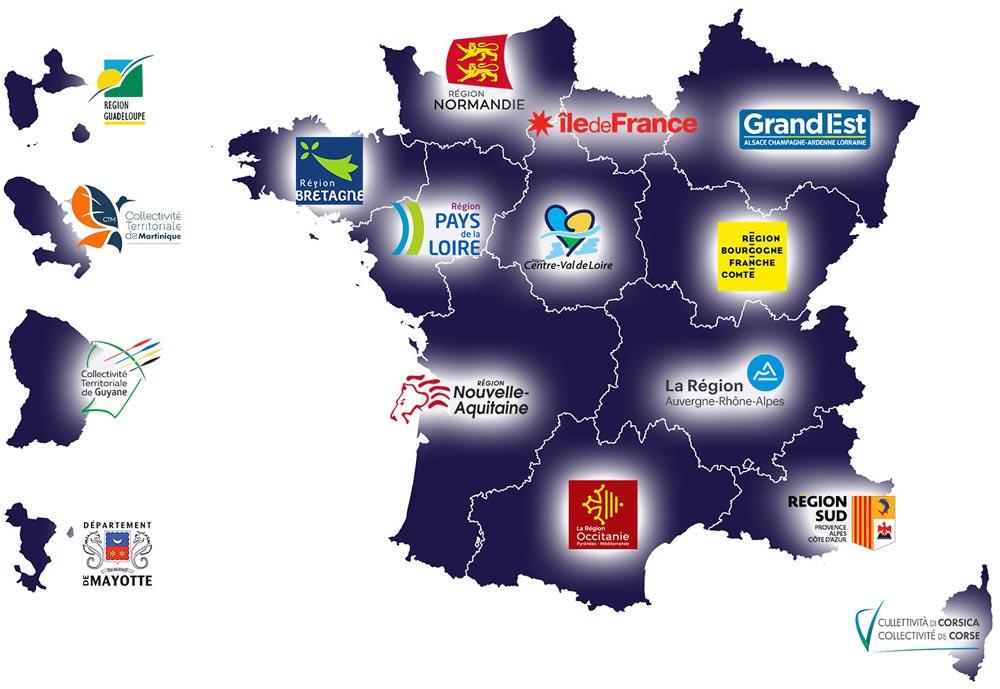 Les clients Régions MGDIS