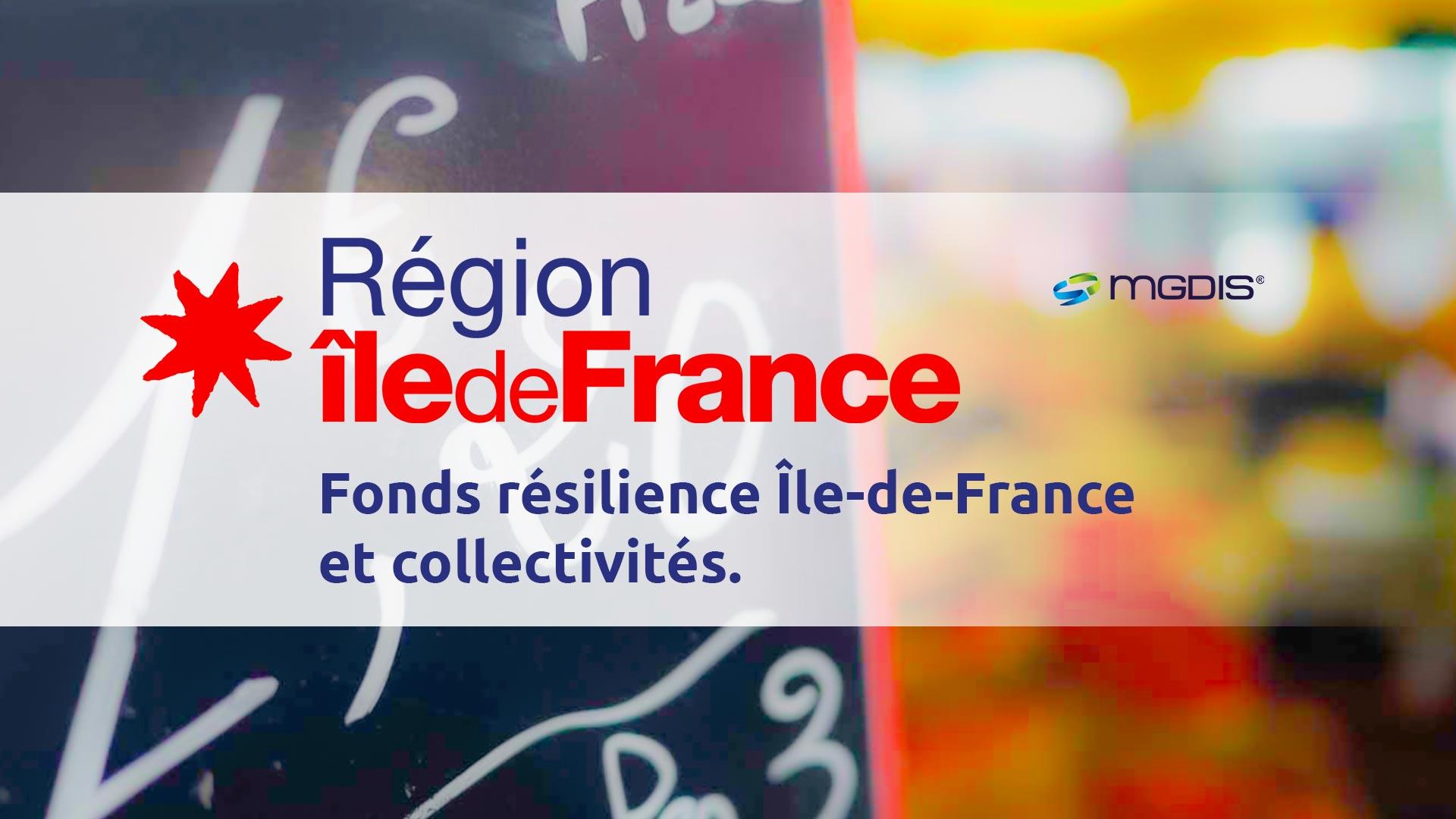 La plateforme du Fonds de résilience Ile-de-France par MGDIS