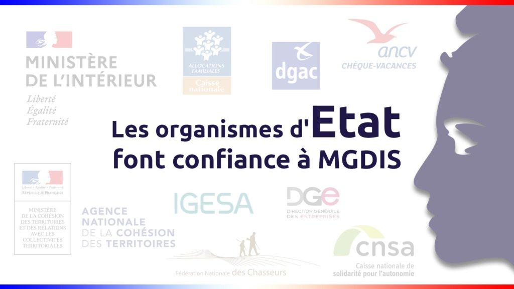 Les organismes d'Etat font confiance à MGDIS