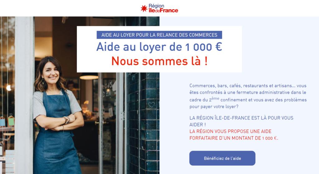 Ile-de-France-MGDIS-aide-loyers-professionnels-2021
